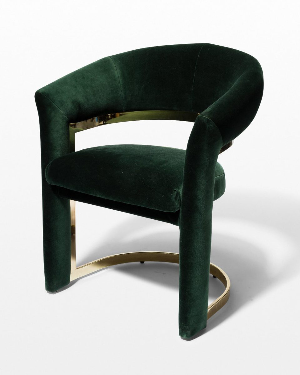 Front view of Arc Hunter Green Curve Chair