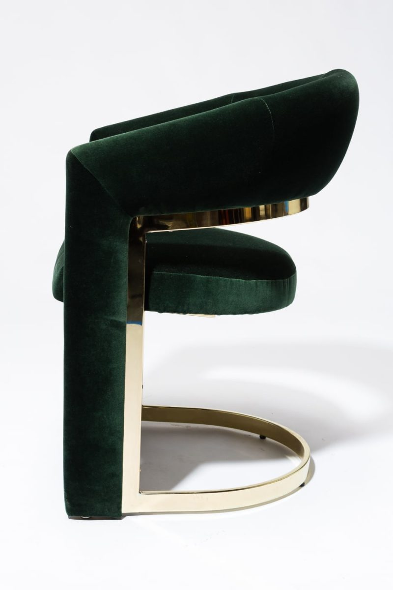 Alternate view 2 of Arc Hunter Green Curve Chair