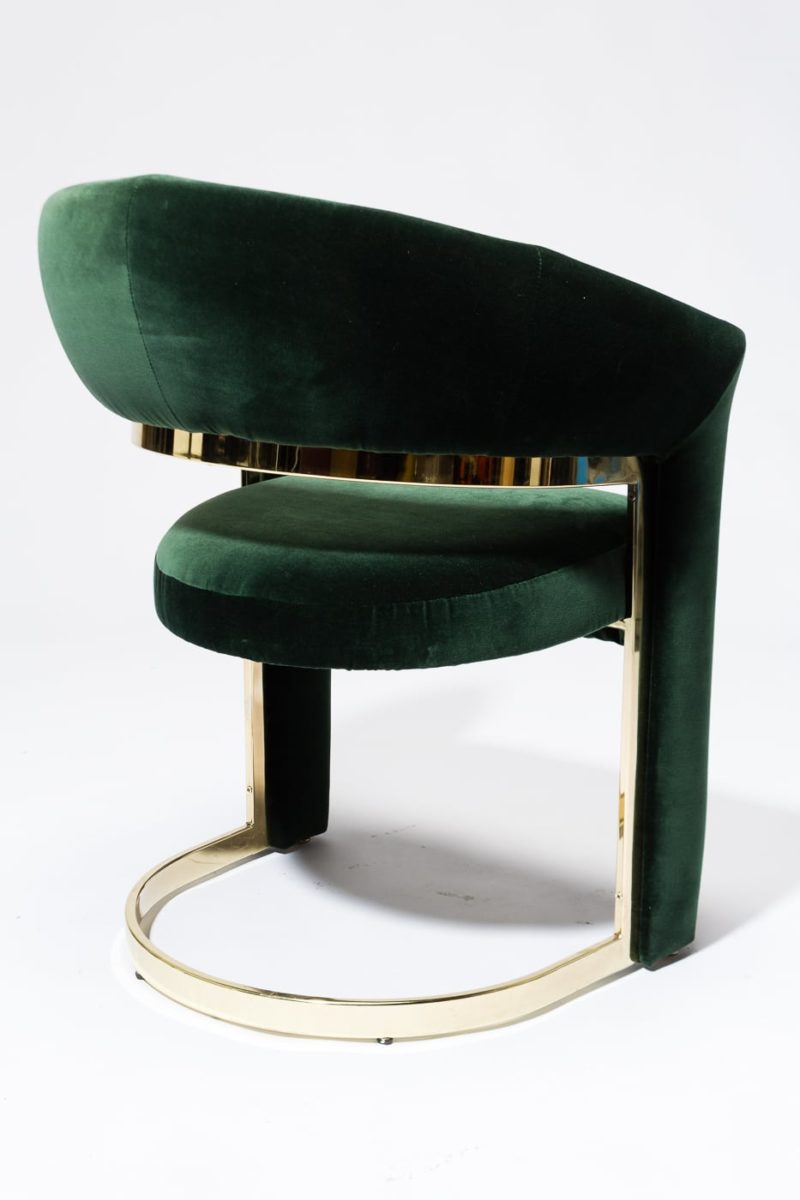 Alternate view 3 of Arc Hunter Green Curve Chair