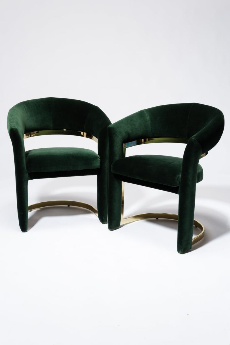 Alternate view 4 of Arc Hunter Green Curve Chair