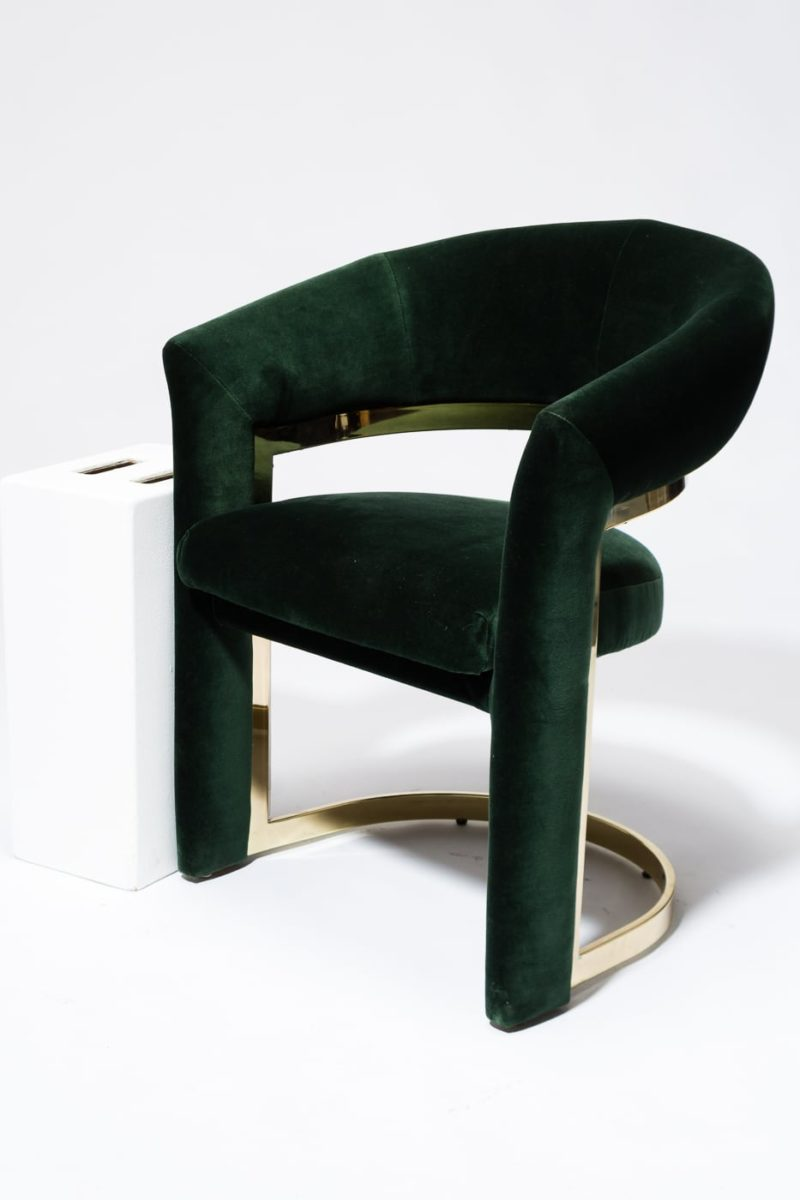Alternate view 1 of Arc Hunter Green Curve Chair