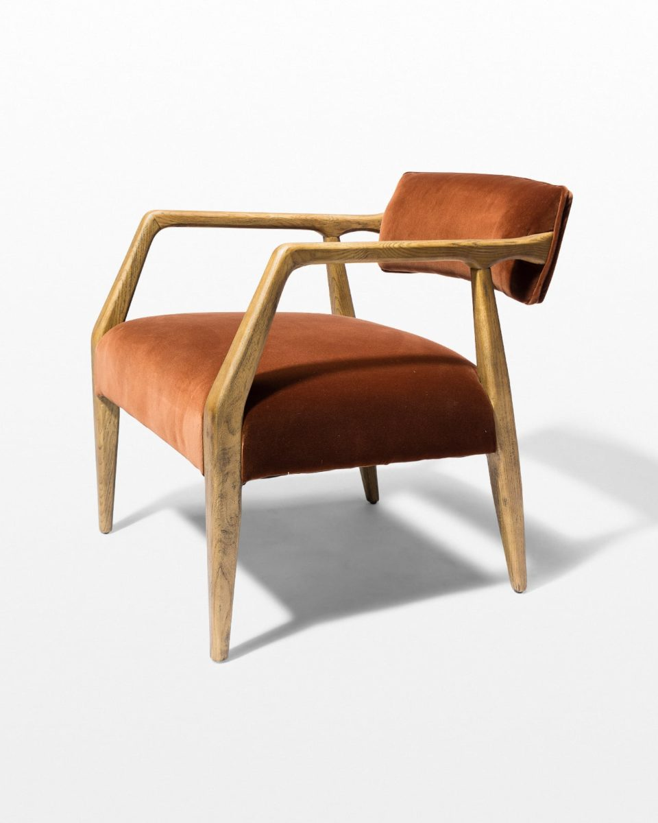 Front view of Shah Rust Arm Chair