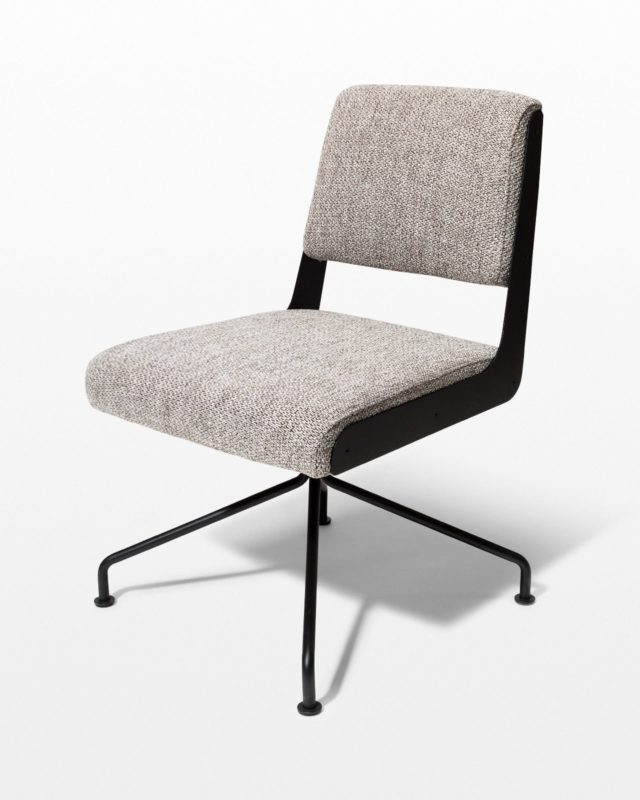 Front view of Bram Tweed Grey Swivel Chair