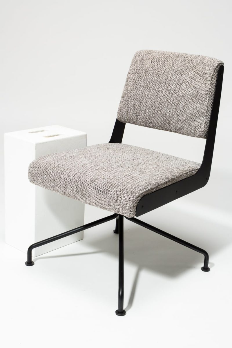 Alternate view 2 of Bram Tweed Grey Swivel Chair