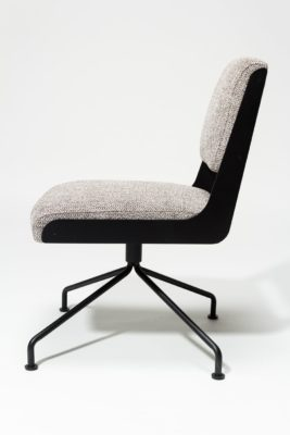 Alternate view 3 of Bram Tweed Grey Swivel Chair