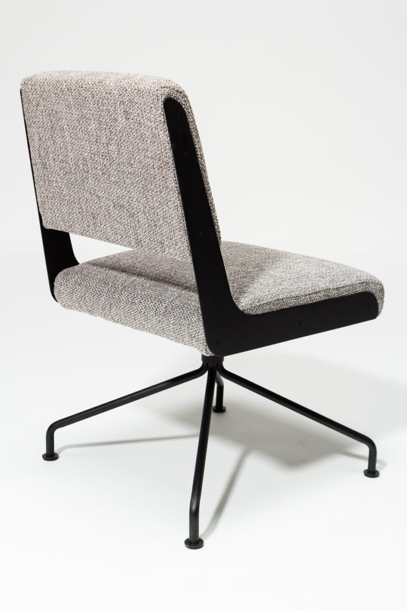 Alternate view 4 of Bram Tweed Grey Swivel Chair