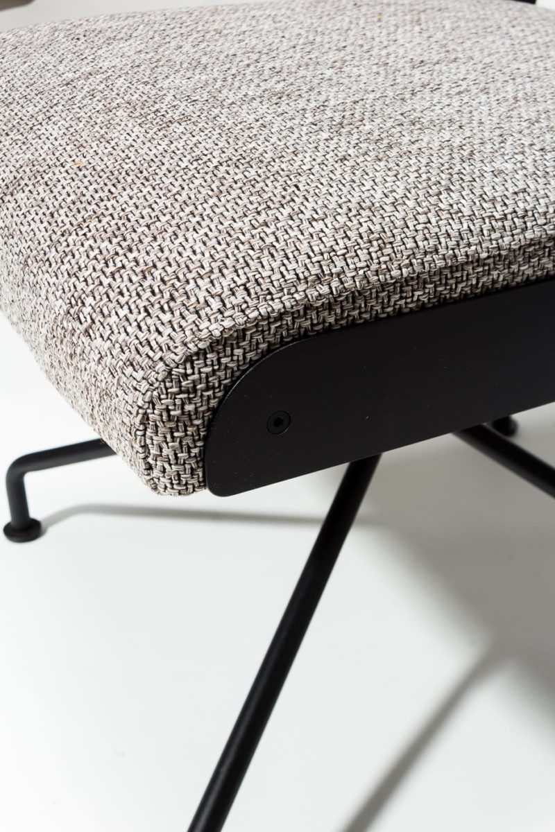 Alternate view 1 of Bram Tweed Grey Swivel Chair