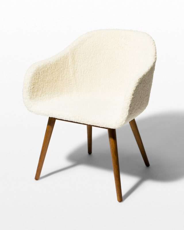 Front view of Sheldon Faux Shearling Wool Chair