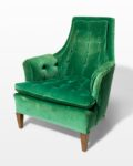 Front view thumbnail of Penny Green Velvet Armchair