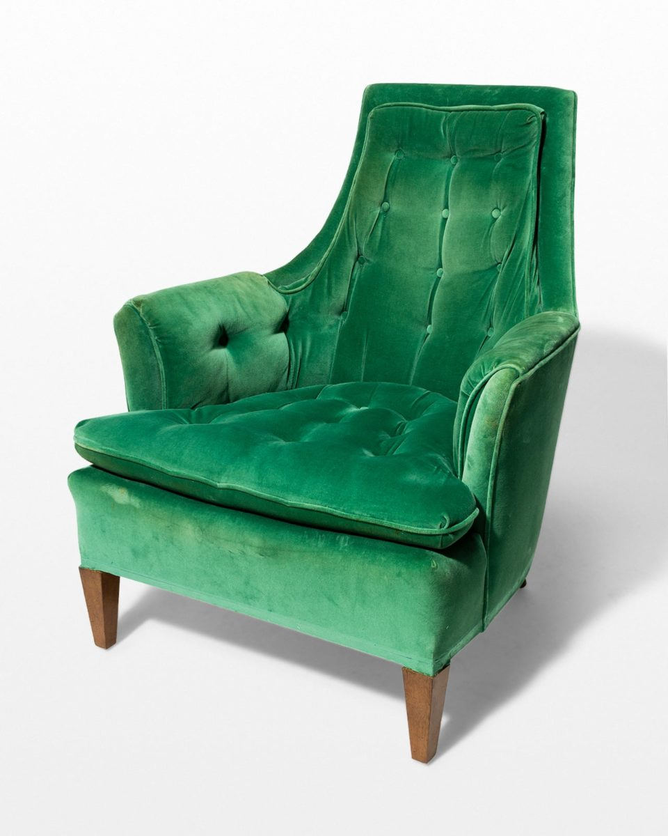 Front view of Penny Green Velvet Armchair