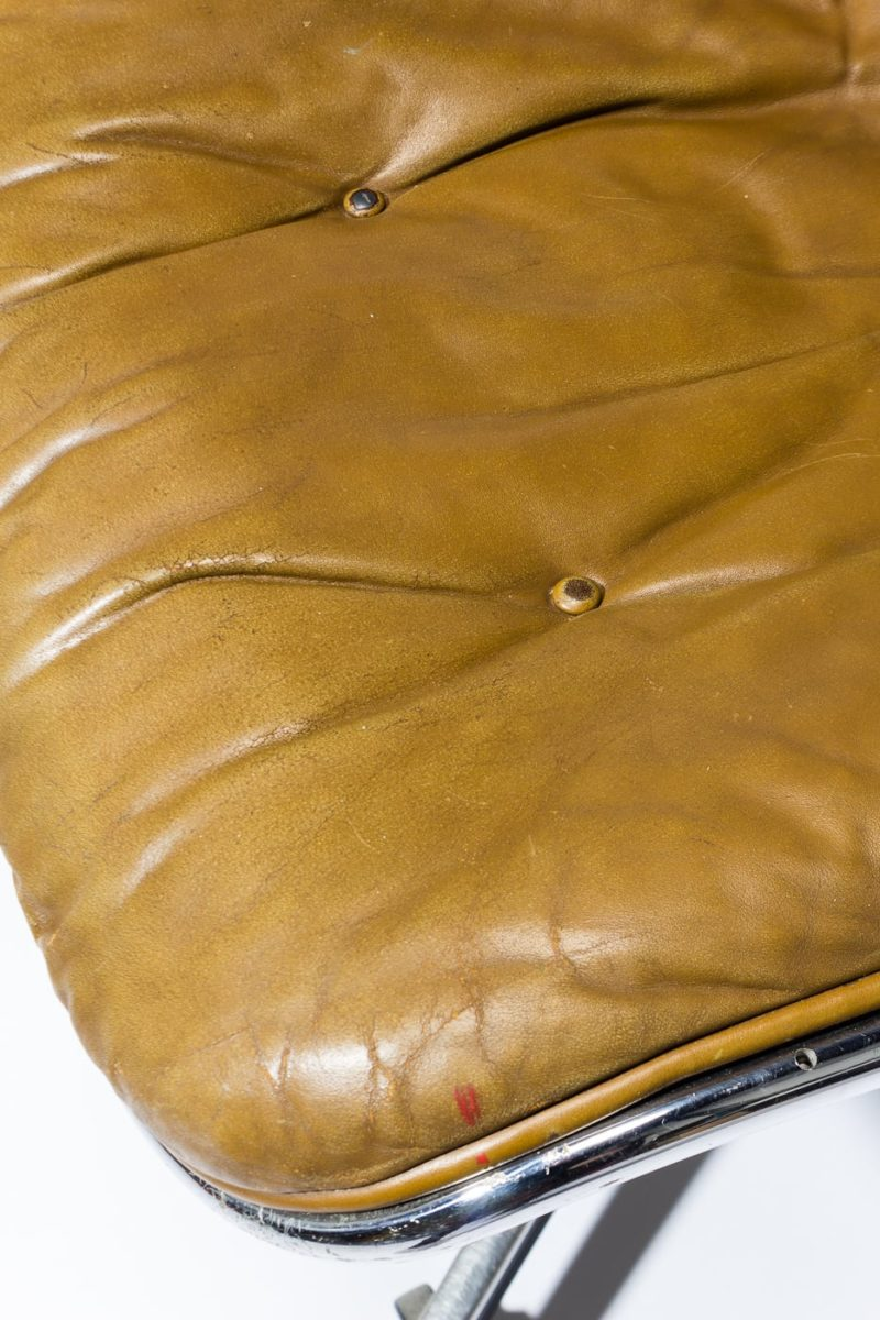 Alternate view 1 of Jag Rolling Tufted Leather Chair
