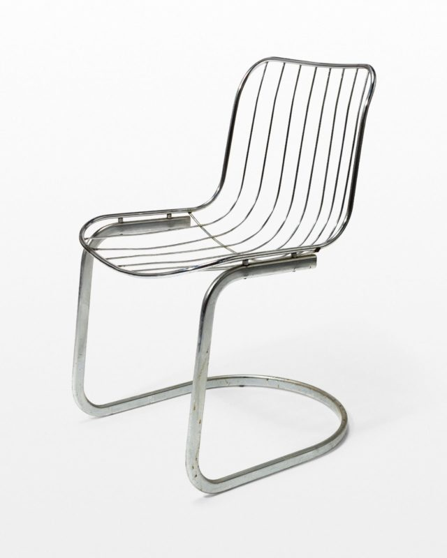 Front view of Alpha Wire Cantilever Chair