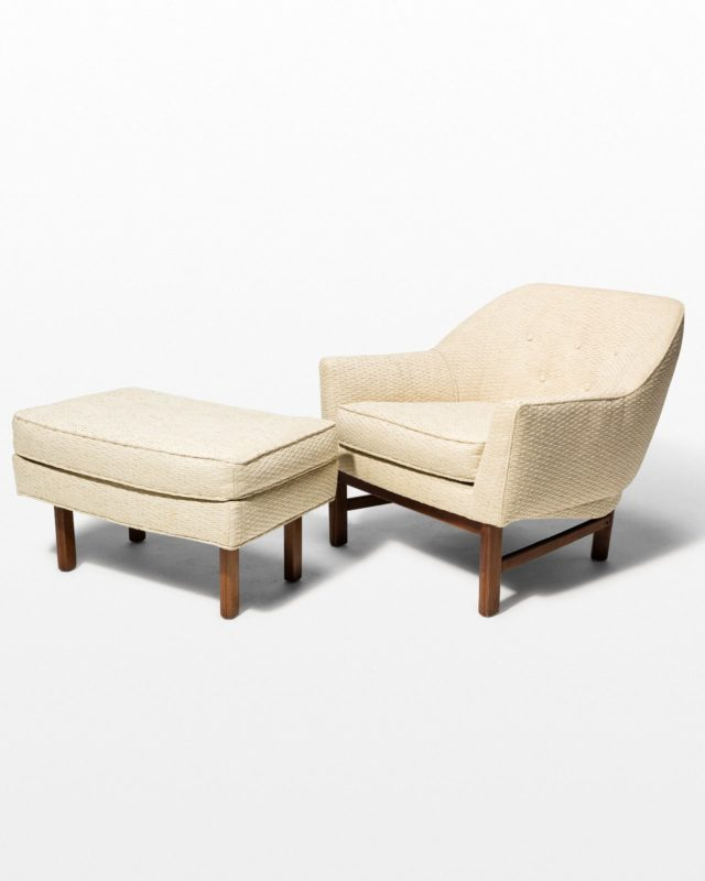 Front view of Hern Upholstered Armchair and Ottoman Set