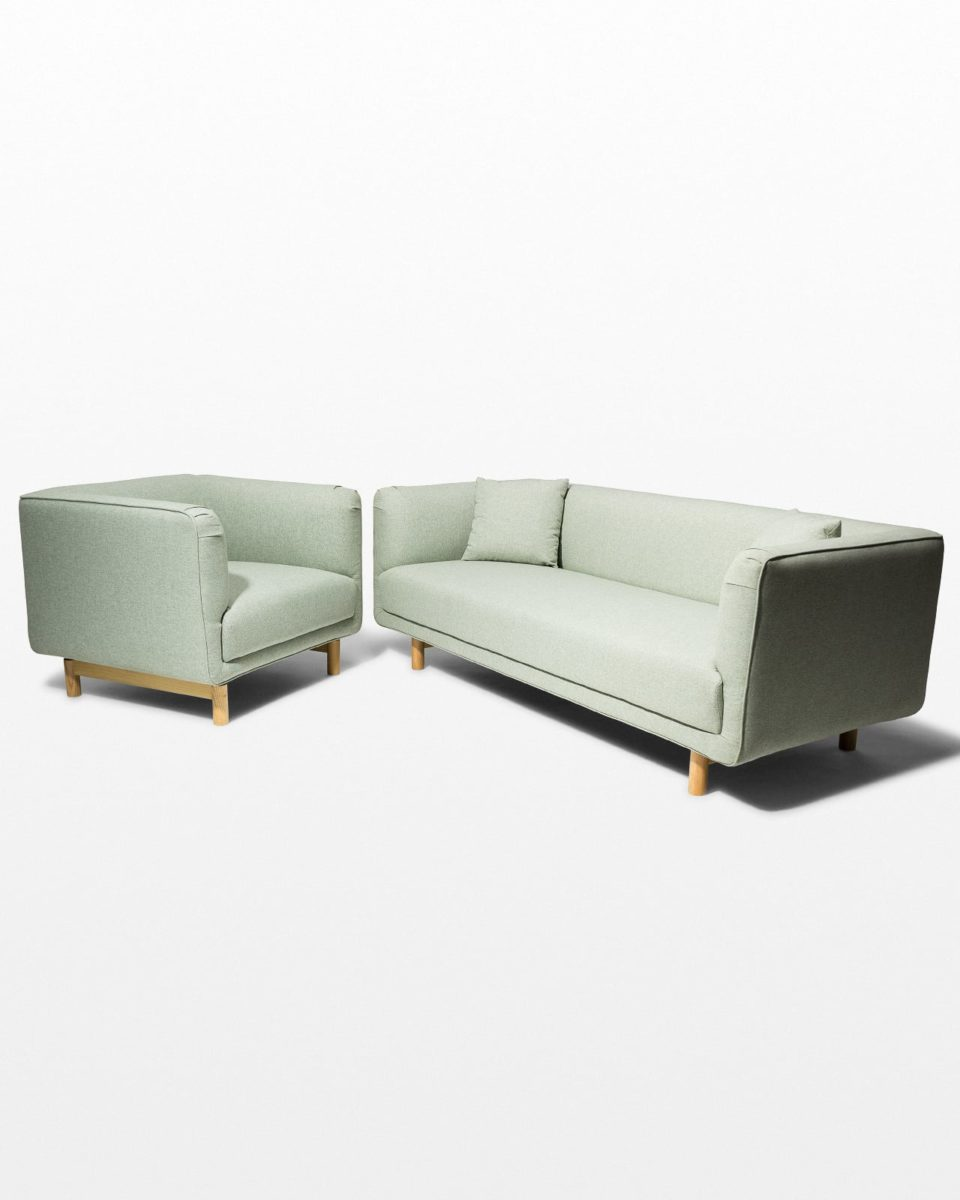 Front view of Belmont Sofa and Armchair Set