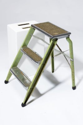 Alternate view 2 of Bell Distressed Green Aluminum Step Ladder
