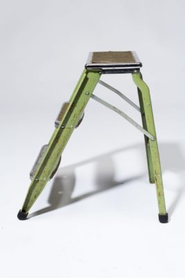 Alternate view 3 of Bell Distressed Green Aluminum Step Ladder