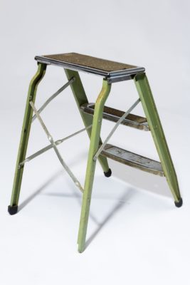 Alternate view 4 of Bell Distressed Green Aluminum Step Ladder