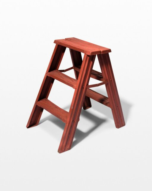 Front view of Redling Vintage A-Frame Step Ladder