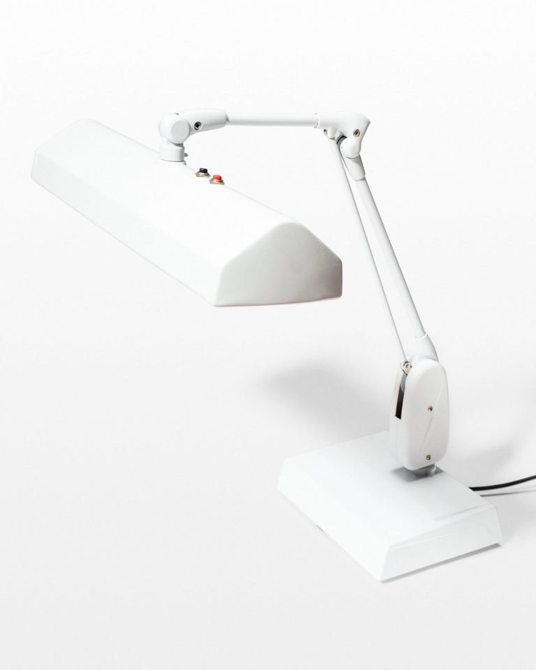 Front view of Bisbee White Task Lamp