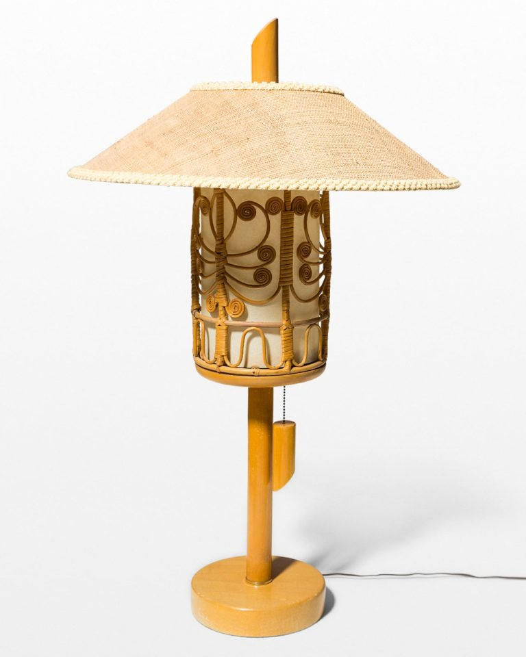 Front view of Fritz Tiki Dome Lamp