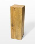 "Front view thumbnail of Bow 35.5"" Reclaimed Wood Pedestal"