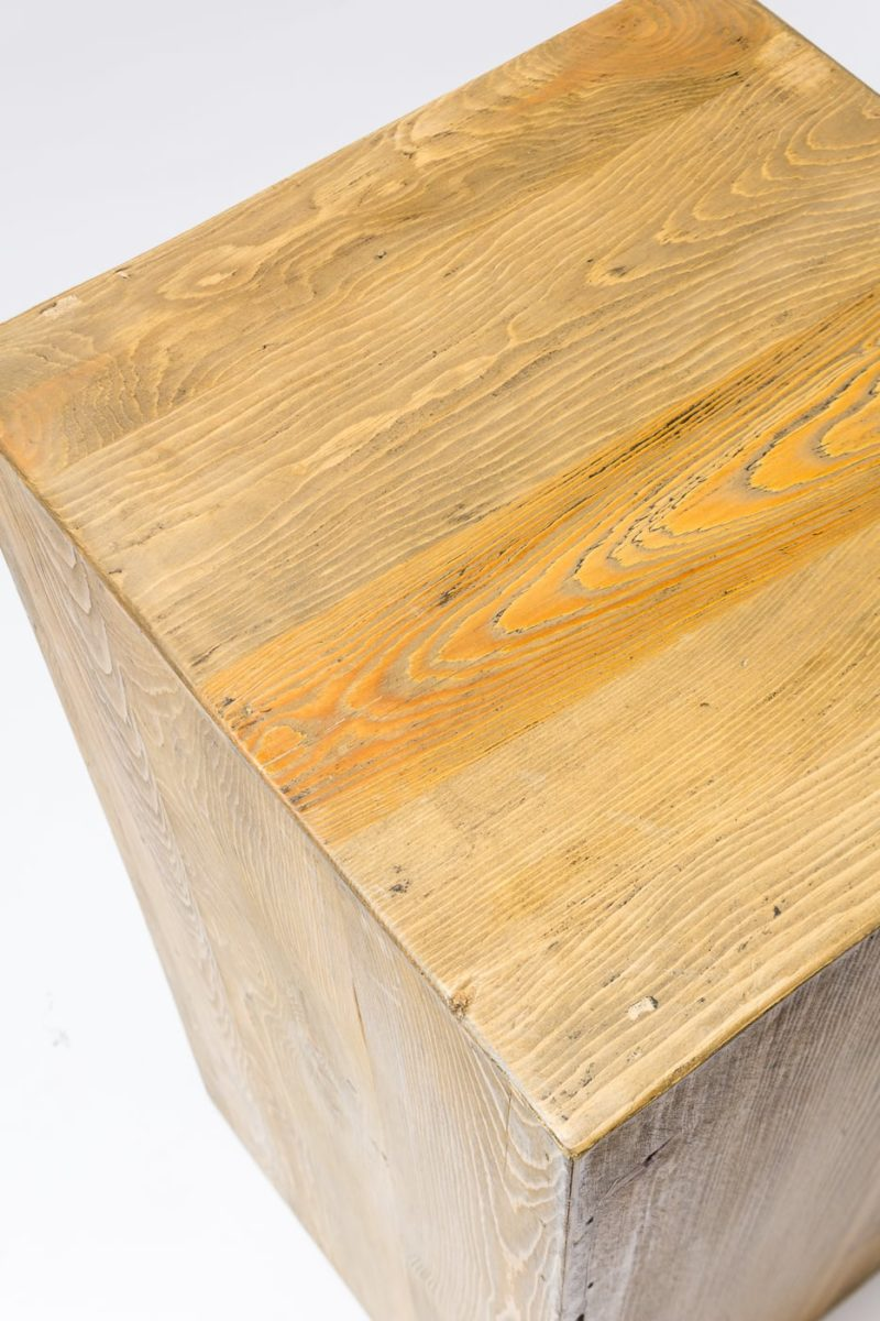 Alternate view 1 of Bow Low Reclaimed Wood Pedestal