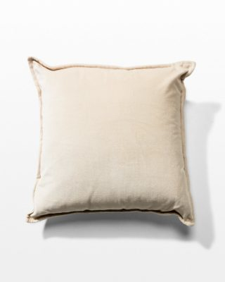 Front view of Walter Oyster Velvet Pillow