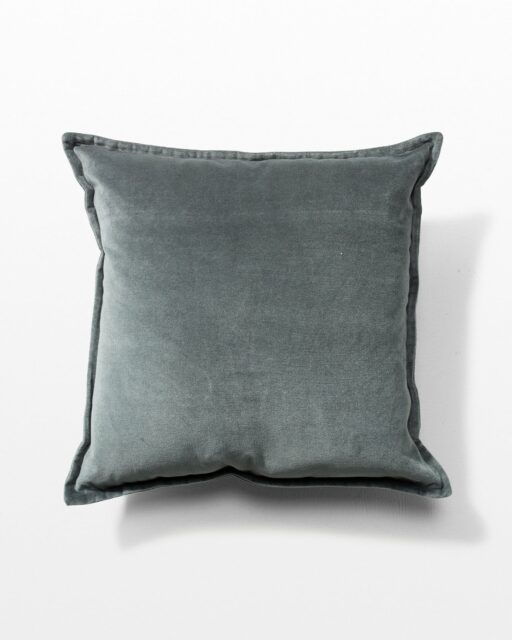 Front view of August Ash Grey Velvet Pillow