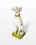 Front view thumbnail of Fido White Dog Sculpture