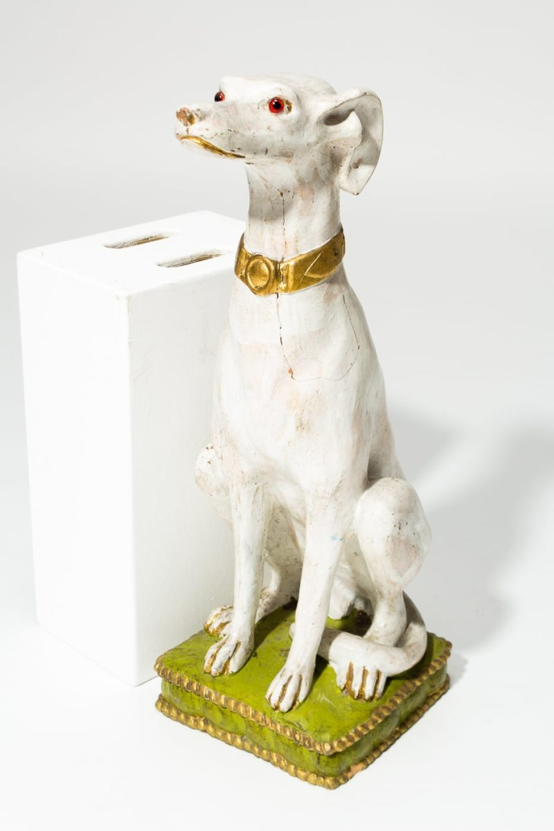 Alternate view 2 of Fido White Dog Sculpture