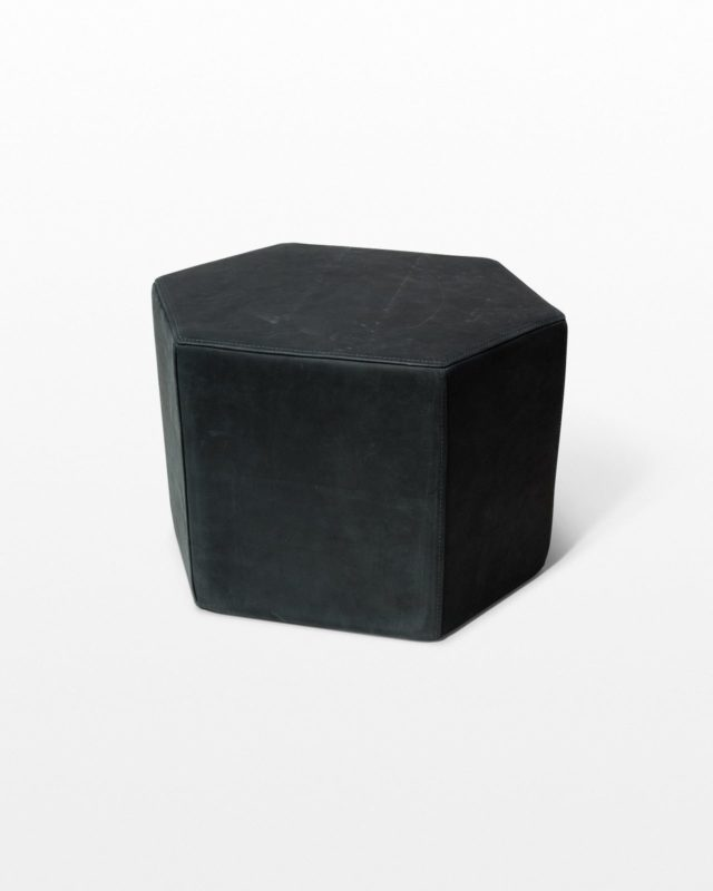 Front view of Kagen Leather Ottoman