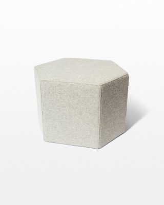 Front view of Breyer Felt Wool Ottoman