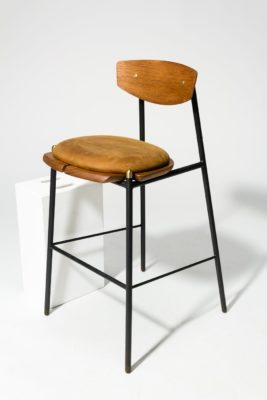 Alternate view 3 of Chadwick Oak and Leather Stool