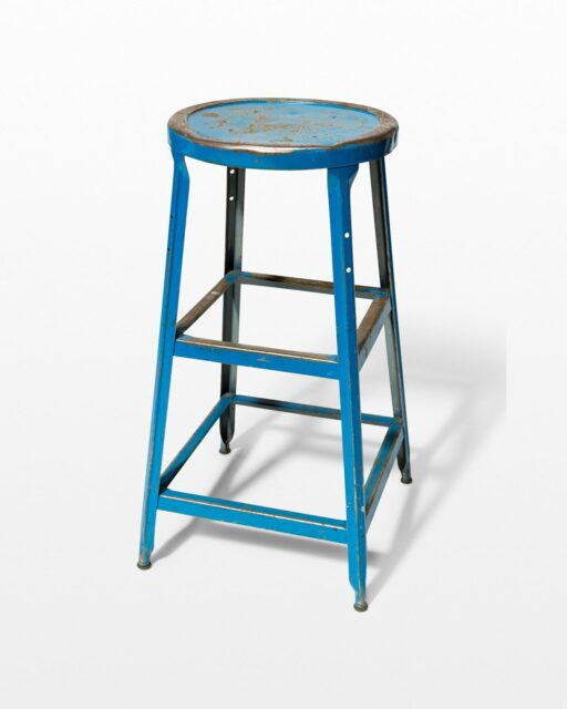 Front view of Reverb Distressed Blue Stool