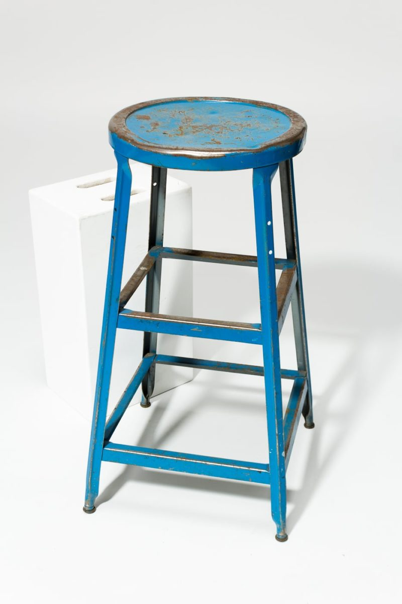Alternate view 2 of Reverb Distressed Blue Stool