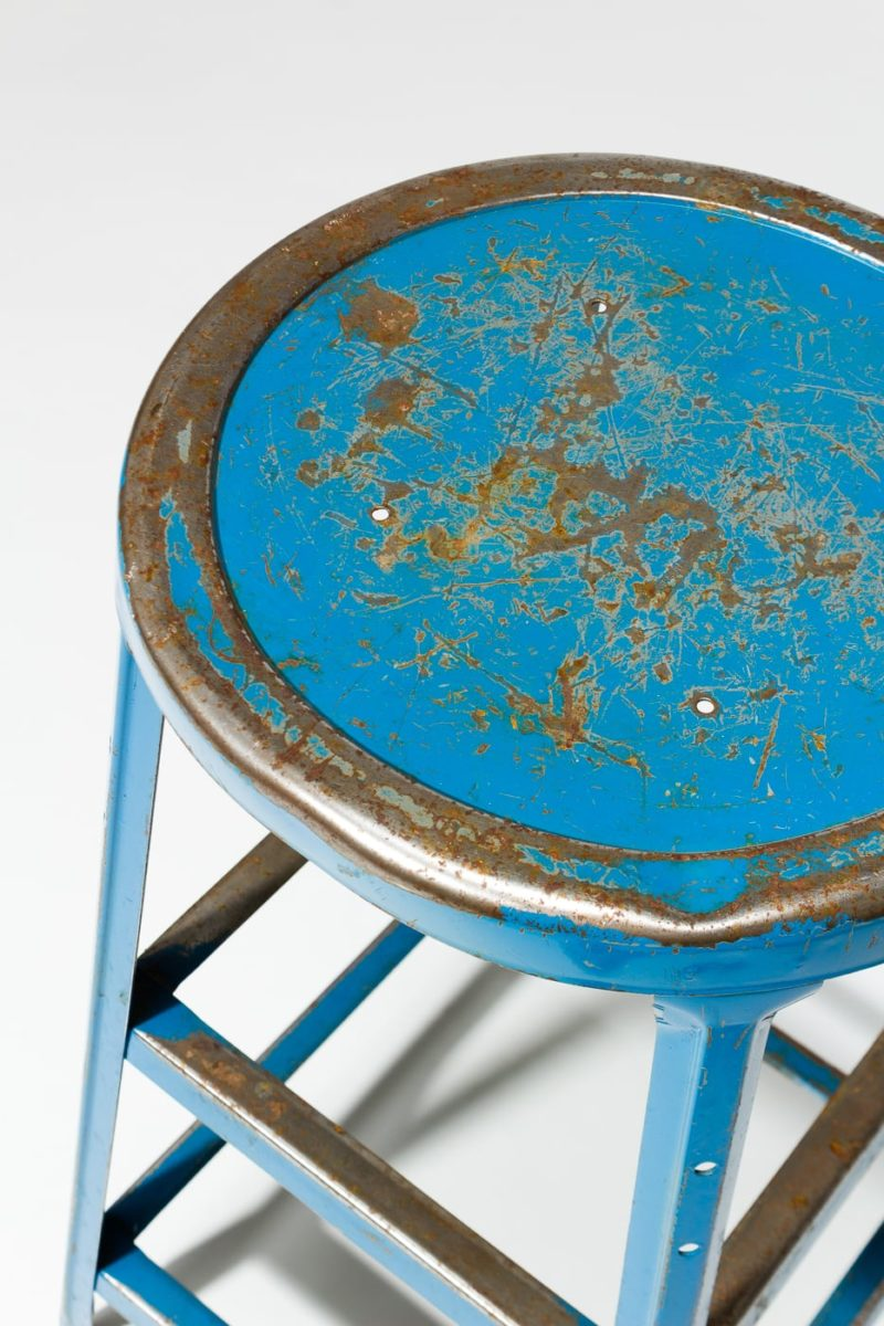 Alternate view 1 of Reverb Distressed Blue Stool