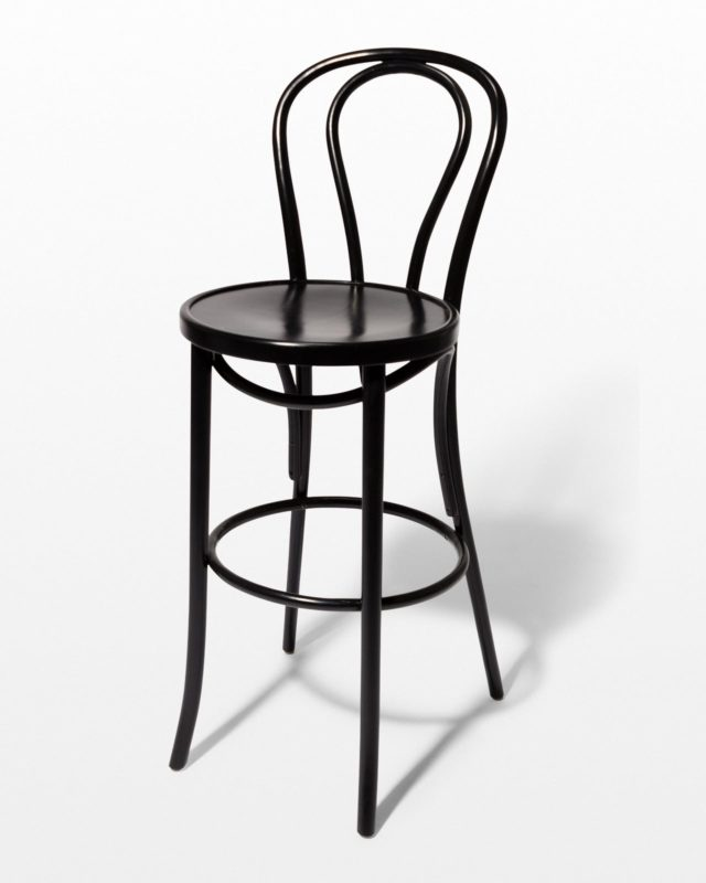Front view of Etienne Black Cafe Stool