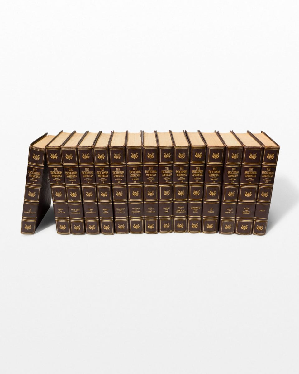 Front view of Americana Encyclopedia Set