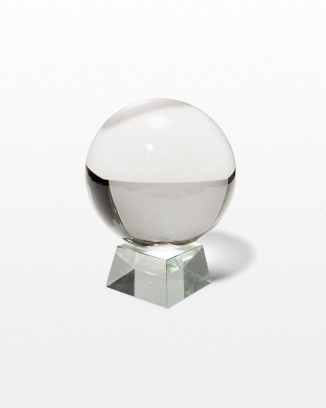 Front view of Zora Glass Crystal Ball
