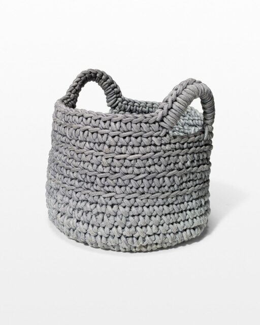 Front view of Delavan Woven Basket