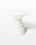 Front view thumbnail of South White Lacquer Side Table Pedestal