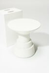 Alternate view thumbnail 1 of South White Lacquer Side Table Pedestal
