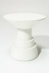Alternate view thumbnail 3 of South White Lacquer Side Table Pedestal
