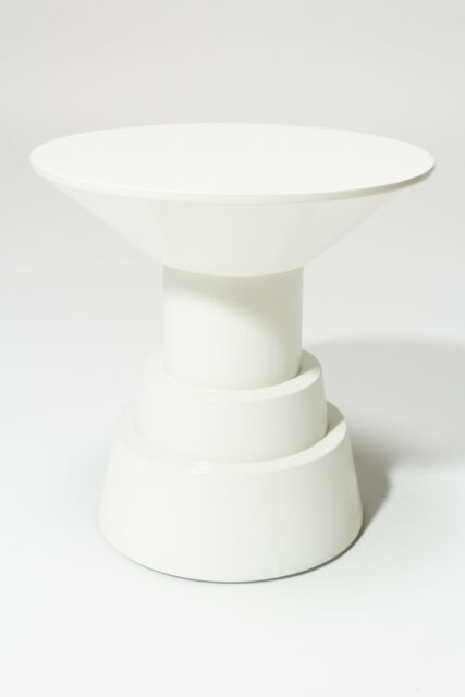 Alternate view 3 of South White Lacquer Side Table Pedestal