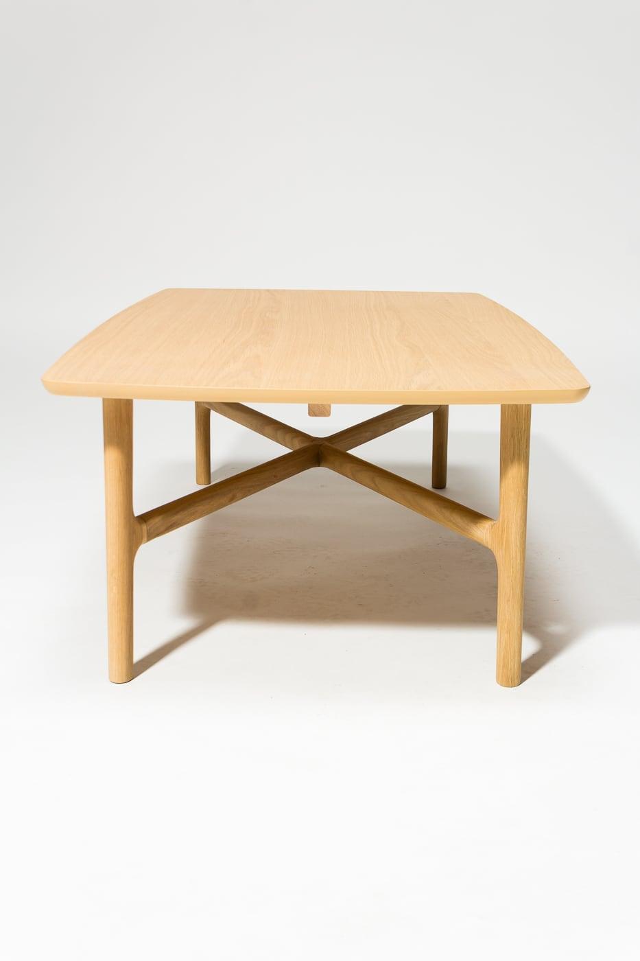 Awesome Tb195 Bevel Light Oak Coffee Table Prop Rental Acme Brooklyn Machost Co Dining Chair Design Ideas Machostcouk