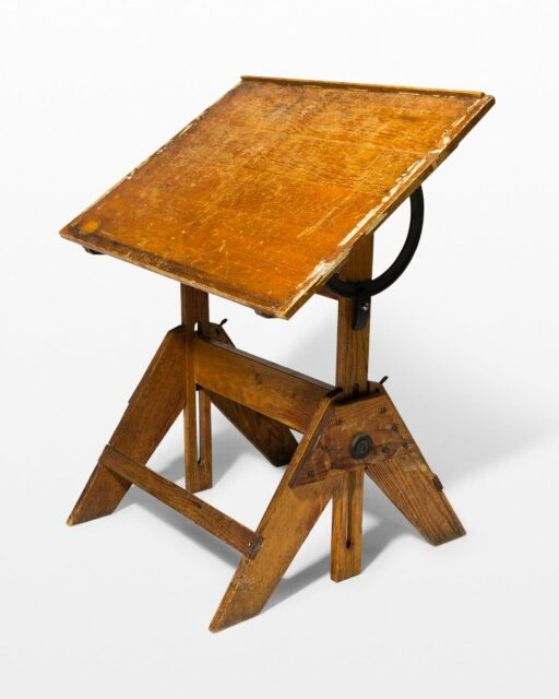 Front view of Winslow Antique Artist's Drafting Table