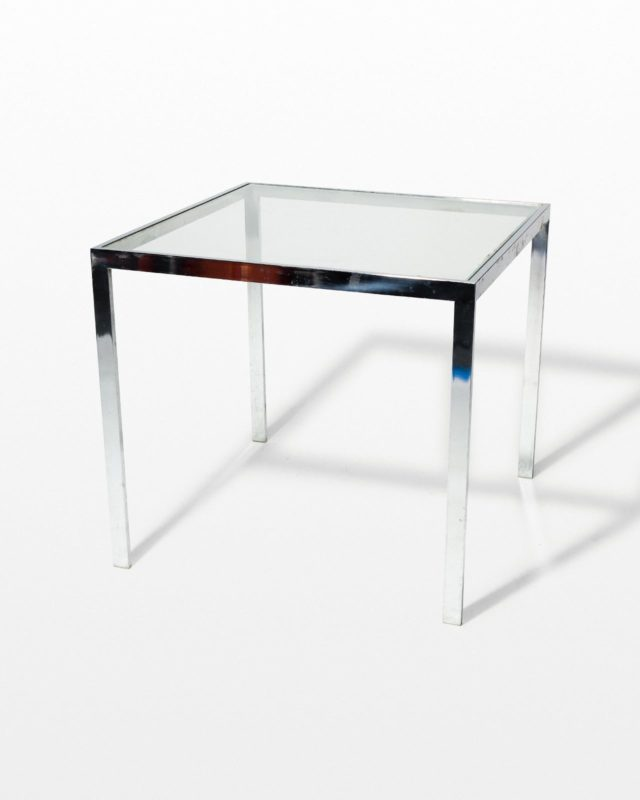 Front view of Kip Square Chrome Table