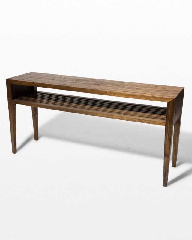 Front view of Ike Wood Stripe Console