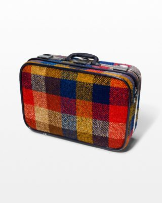 Front view of McGrath Multicolor Plaid Suitcase