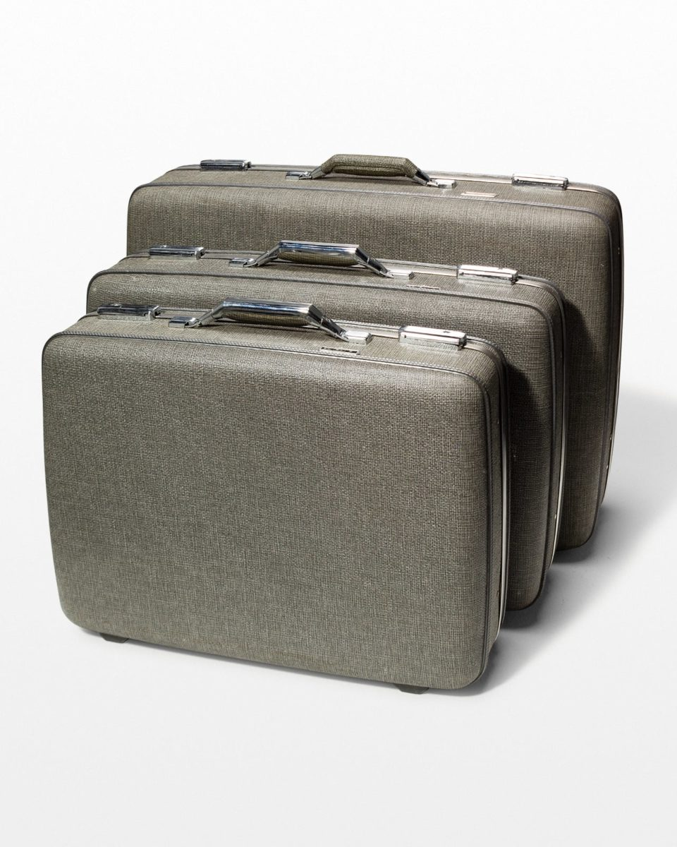 Front view of Hartford Grey Luggage Set